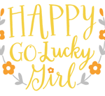 Happy Go Lucky Girl Logo